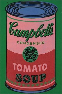 Colored Campbell's Soup Can, c.1965 (red & green) by Andy Warhol