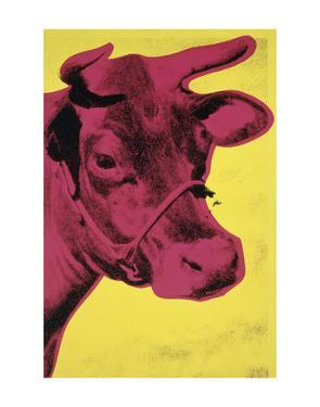 Cow, 1966 (yellow & pink) by Andy Warhol