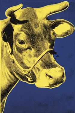 Cow, 1971 (blue & yellow) by Andy Warhol