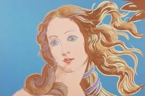 Details of Renaissance Paintings (Sandro Botticelli, Birth of Venus, 1482), 1984 (blue) by Andy Warhol