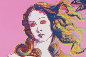 Details of Renaissance Paintings (Sandro Botticelli, Birth of Venus, 1482), 1984 (pink) by Andy Warhol
