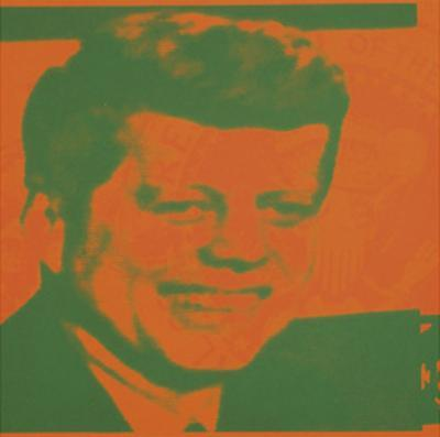 Flash-November 22, 1963, 1968 (orange & green) by Andy Warhol