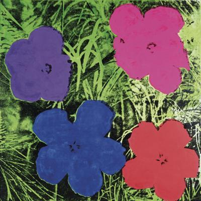 Flowers, c.1964 (1 purple, 1 blue, 1 pink, 1 red)