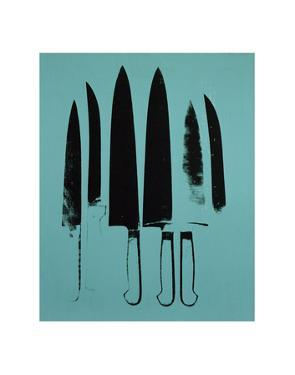 Knives, c. 1981-82 (Aqua) by Andy Warhol