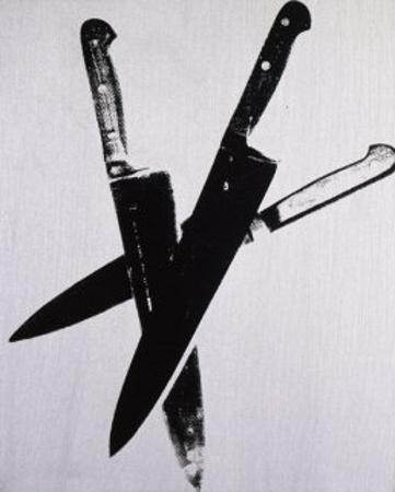 Knives, c.1981-82 (three black on cream)