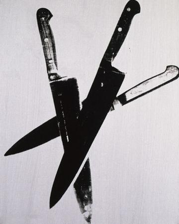Knives, c.1981-82 (three black on cream) by Andy Warhol