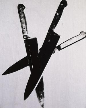 Knives, c.1981-82 (three black on cream) by Andy Warhol