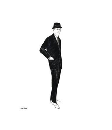 Male Fashion Figure, c. 1960 by Andy Warhol