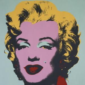 Marilyn, 1967 (on blue ground) by Andy Warhol