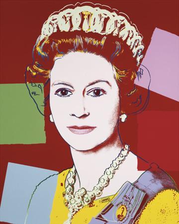 Reigning Queens: Queen Elizabeth II of the United Kingdom, 1985 (dark outline) by Andy Warhol