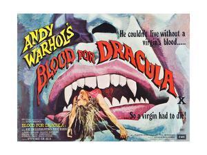 Andy Warhol's Young Dracula, (aka Andy Warhol's Dracula, aka Blood for Dracula), poster art, 1974