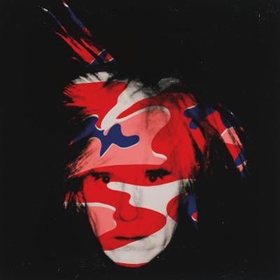 Self-Portrait, c.1986 (red, white and blue camo)