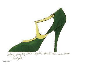 Shoe bright, shoe light, first shoe I've seen tonight (from: A La Recherche du Shoe Perdu by Andy W by Andy Warhol
