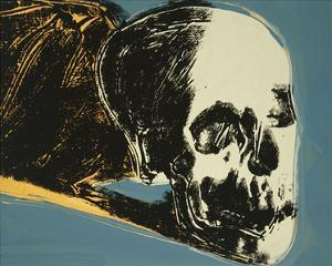 Skull, c.1976 (yellow on teal) by Andy Warhol