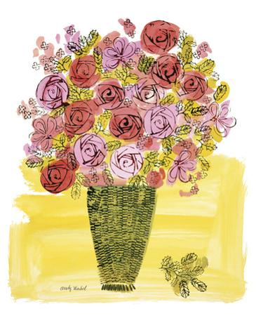 (Stamped) Basket of Flowers, 1958 by Andy Warhol