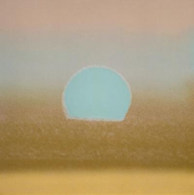 Sunset, c.1972 40/40 (gold, blue) by Andy Warhol
