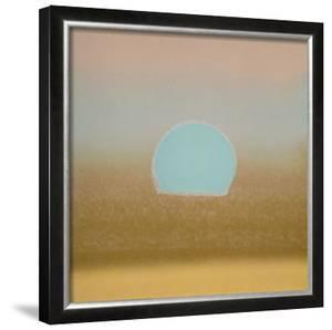 Sunset, c.1972 (gold, blue) by Andy Warhol