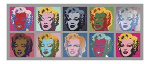 Ten Marilyns, 1967 by Andy Warhol