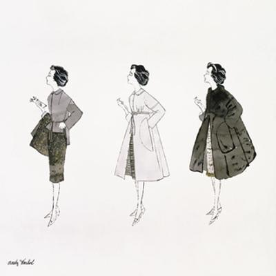 Three Female Fashion Figures, c. 1959