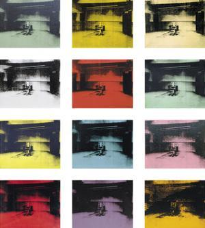 Twelve Electric Chairs, c.1964/65 by Andy Warhol