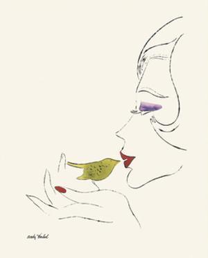 Untitled (Female Head), c. 1958 by Andy Warhol