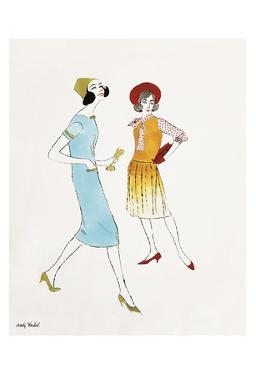 Untitled (Two Female Fashion Figures), c. 1960 by Andy Warhol