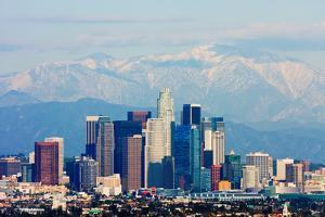Los Angeles with Snowy Mountains in the Background by Andy777