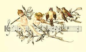 Angel and Bird Chorus on Staff