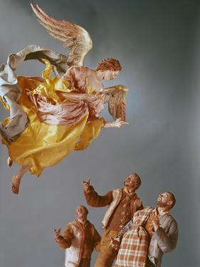 Angel and Shepherds, from the Christmas Creche and Tree