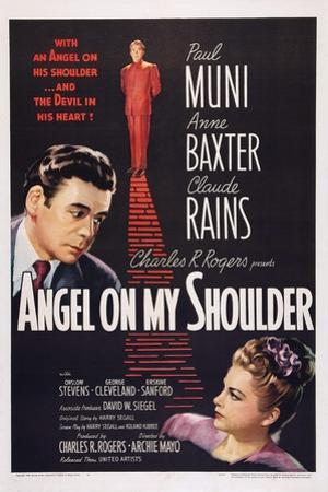 Angel on My Shoulder, from Left: Paul Muni, Claude Rains, Anne Baxter, 1946