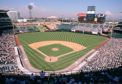 Angel Stadium Anaheim Color Archival Photo Sports Poster