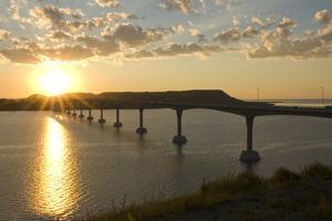 Four Bears Bridge Stretches across the Missouri River, North Dakota by Angel Wynn