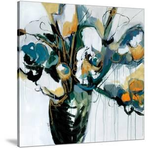 Blooms in Shamrock Grey by Angela Maritz