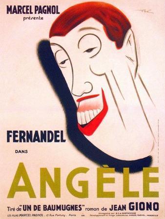 Angele, French poster art, Fernandel, 1934