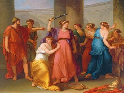 Achilles Discovered by Angelica Kauffmann