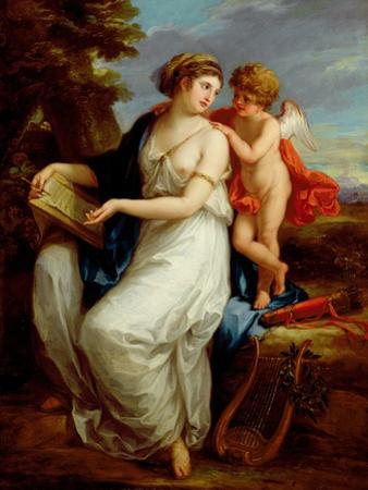 Erato, the Muse of Lyric Poetry with a Putto by Angelica Kauffmann