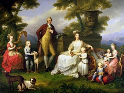 Ferdinand IV King of Naples, and His Family by Angelica Kauffmann