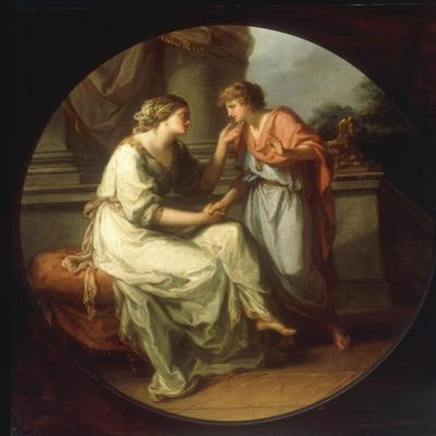 Papirius Praetextatus entreated by his Mother to disclose the Secrets of the Senate by Angelica Kauffmann