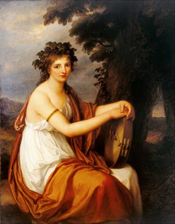 Portrait of a Young Girl as a Bacchante (Bacchante) by Angelica Kauffmann