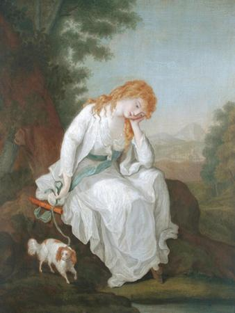 Possibly Maria of Moulines from Sterne's 'Sentimental Journey', 1766-81 by Angelica Kauffmann