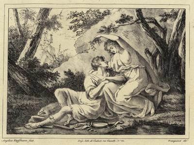 Two Lovers in a Landscape by Angelica Kauffmann