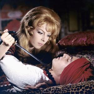 ANGELIQUE and LE ROY, 1965 directed by BERNARD BORDERIE Michele Mercier and Sami Frey (photo)