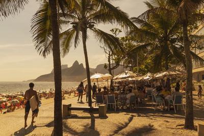 Beach and Cafe, Rio De Janeiro, Brazil, South America
