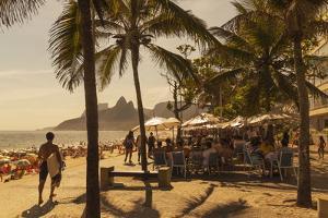 Beach and Cafe, Rio De Janeiro, Brazil, South America by Angelo