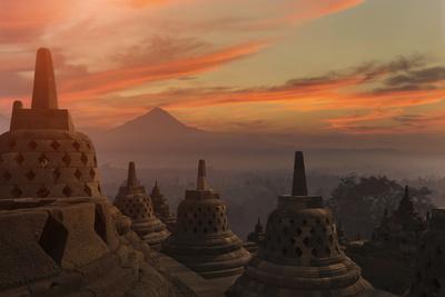 Borobudur Buddhist Temple, UNESCO World Heritage Site, Java, Indonesia, Southeast Asia
