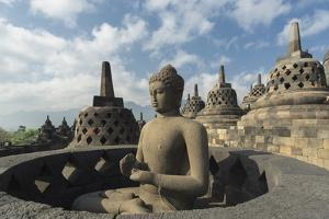 Borobudur Buddhist Temple, UNESCO World Heritage Site, Java, Indonesia, Southeast Asia by Angelo