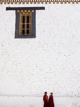 Buddhist Monks, Paro Dzong, Paro, Bhutan by Angelo Cavalli