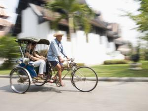 Cycle Rickshaw, Chiang Mai, Thailand, Southeast Asia by Angelo Cavalli