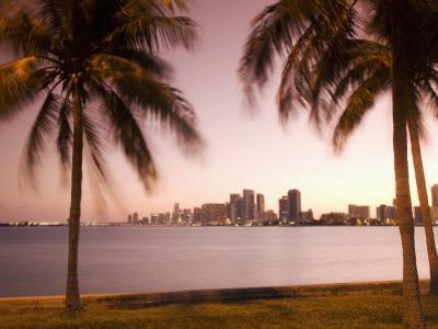 Downtown Miami Skyline at Dusk Miami, Florida, United States of America, North America