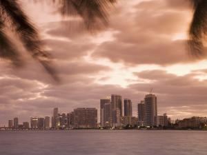 Downtown Miami Skyline at Dusk Miami, Florida, United States of America, North America by Angelo Cavalli
